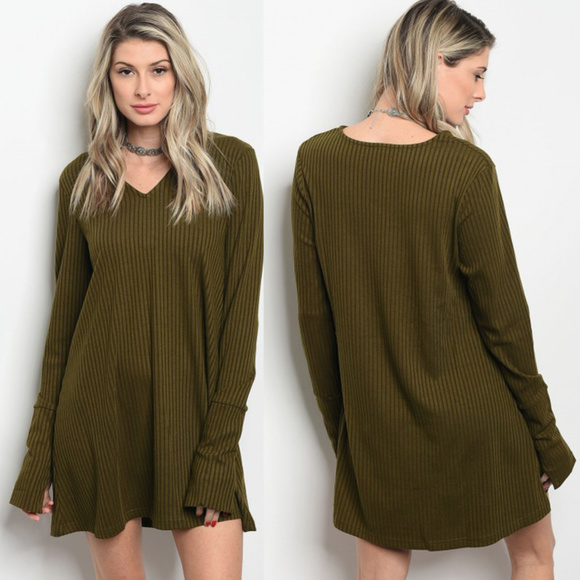Army Green long sleeve ribbed skater dress Sm-LG. Boutique.  M 5acd4571b7f72b908ae1e8bb. M 5acd4571739d4819264618c2.  M 5acd4571fcdc31d53c0a20d3 1d857372c